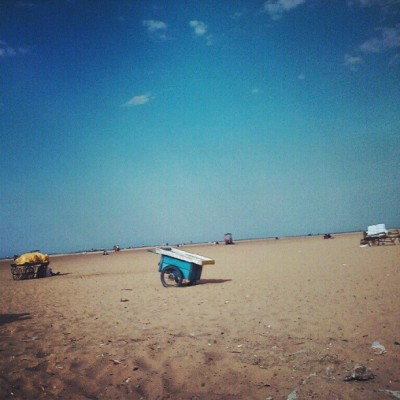 An empty Beach. #Marina #Beach, Chennai.  (Taken with Instagram)