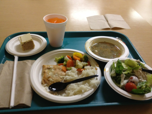 Kindred rancho hospital's cafeteria food.