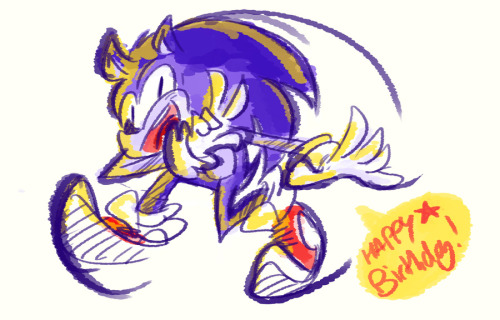 HAPPY 21ST BIRTHDAY SANIC. YOU ARE NOW A MAN. (this is very quick and kinda crappy i'm sorry sonic ;___;)