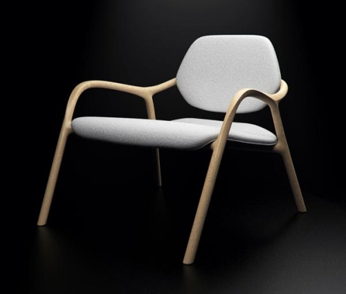 Chair - Furniture Design The 'Chaise En Bois' chair with smooth wooden curves. Furniture design by Simon Reynaud. via: WE AND THE COLORFacebook // Twitter // Google+ // Pinterest