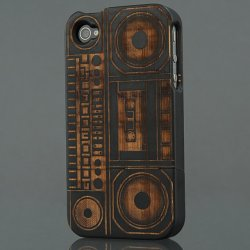Good Wood Boombox iPhone 4 Case