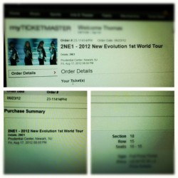 GOING TO SEE MY LOVES IN AUGUST!!!! #2ne1 #newevolution #kpop #NJ #PrudentialCenter #concert #CL #Bom #Dara #Minzy #투애니원 #이채린 #박봄 #산다라 #공민지 #excited #picstitch (Taken with Instagram)
