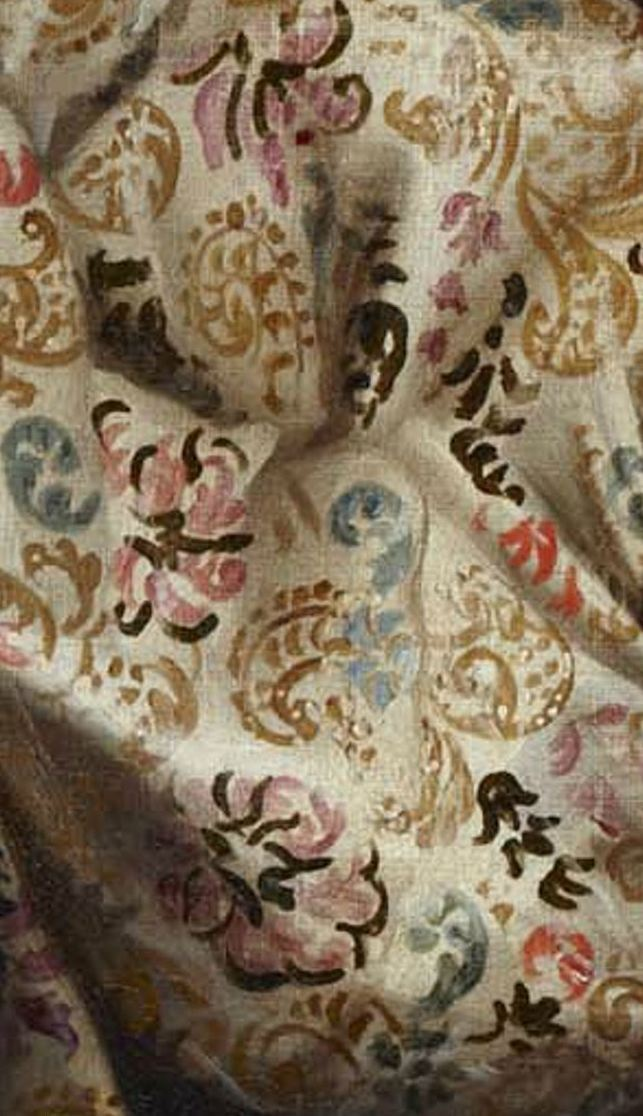 "Fabric detail 'Hercules and Omphale' by Diego López, ""El mudo"" (17th century)"