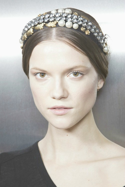backstage at Dolce and Gabbana fall 2012-13