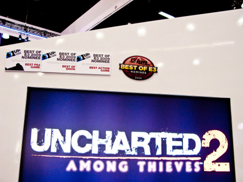 Pictures of Naughty Dog showing Uncharted 2: Among Thieves at E3 2009.