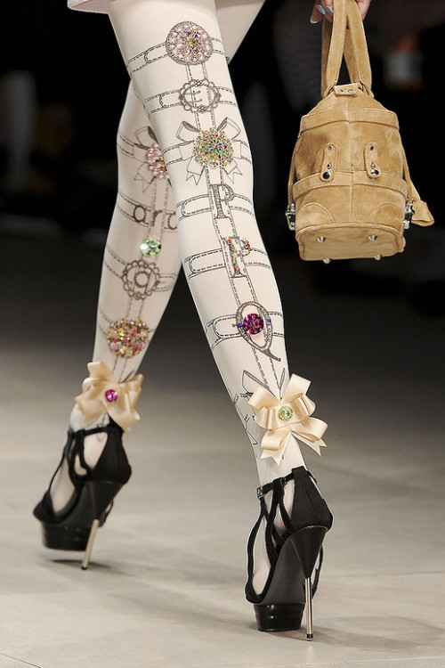 english-rose:  PPQ spring 2012  bedazzled tights :)