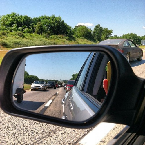 Crawling in traffic outside Harrisburg… #iphone #tnna #roadtrip (Taken with Instagram)