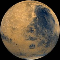Parts of Mars Interior as Wet as Earth's  The interior of Mars holds vast reservoirs of water, with some spots apparently as wet as Earth's innards, scientists say.