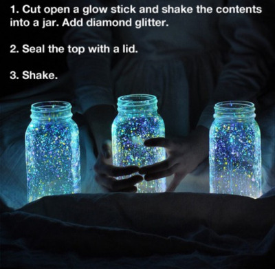 "vickiecupcakes:  DIY ""fireflies in a jar"" Night Lantern  awesome :3 Edward Cullen in a jar as it were.."