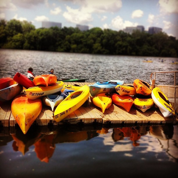 Kayaking on the Potomac! [175/365] #project365 (Taken with Instagram at Thompson Boat Center)