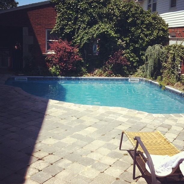 My grotto in my own backyard #summer #pool #yard #backyard #oasis (Taken with Instagram)