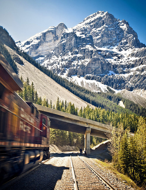 bluepueblo:   Mountain Train, Rocky Mountains, Colorado photo via alcoholo