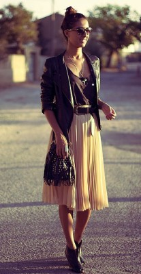 sunset pleats
