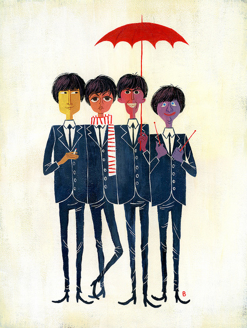 magicfran:  fab four by missbrigette on Flickr.