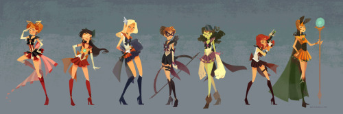 sailor moon + avengers = super sailors more here
