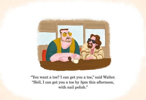 "lebowski as a children's book more ""r"" rated movie drawings here"