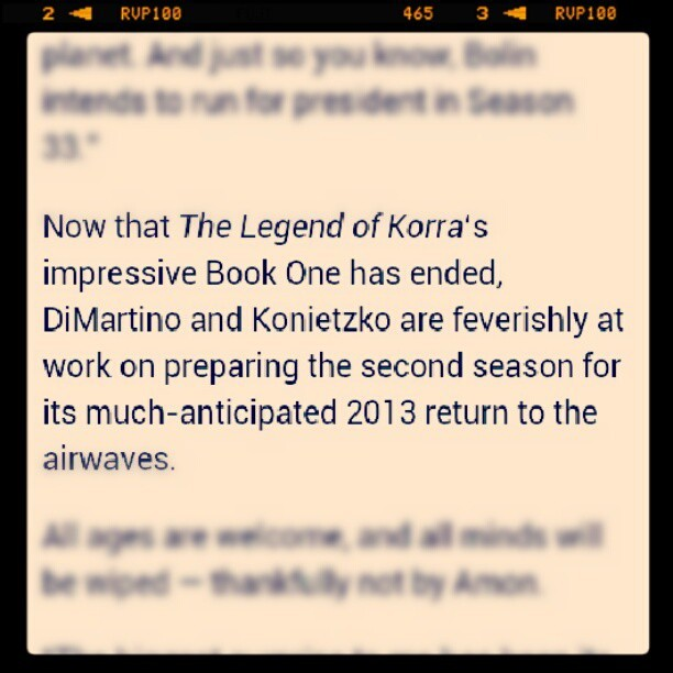 http://www.wired.com/underwire/2012/06/legend-of-korra-finale/ #thelegendofKorra   #avatar #korranation. #korra #mako #bolin #asami #aang #iroh Ohhh myyy goodness! (Taken with Instagram)