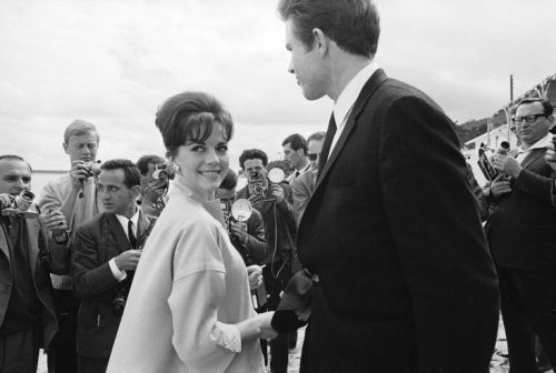Natalie Wood and Warren Beatty, Cannes, 1962. Photo by Paul Schutzer.