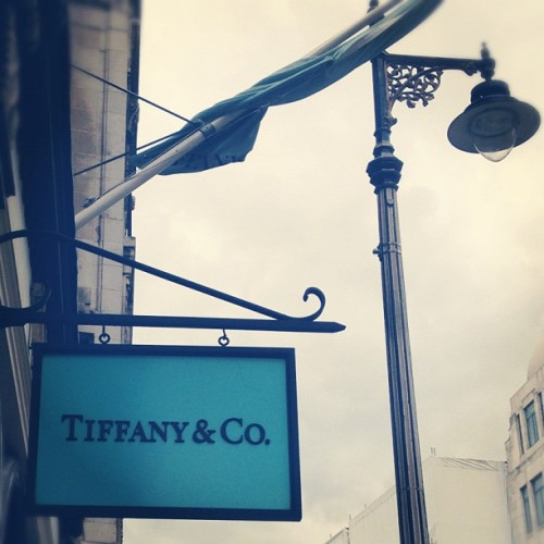 Grey London sky's - shelter in Tiffany's (Taken with Instagram)