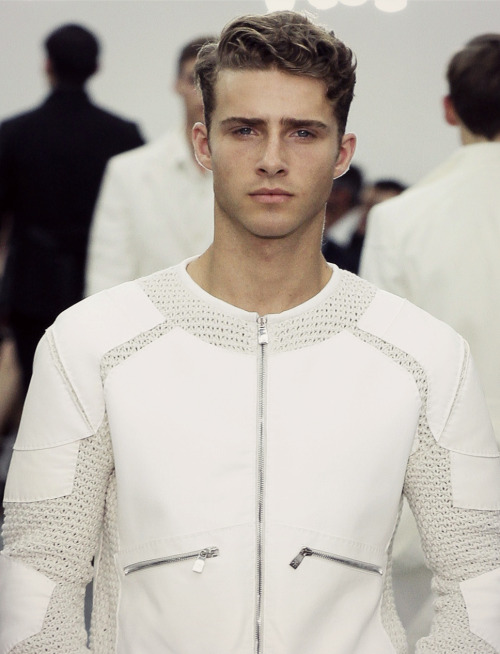 boyonthewire:  Ryan Taylor at Corneliani S/S '13