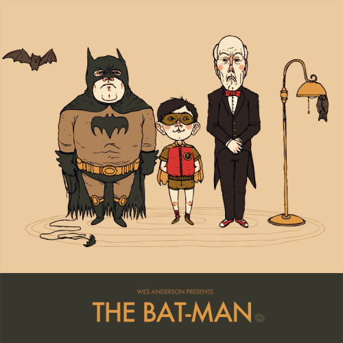 Wes Anderson Presents The Bat-Man by *paperbeatsscissors