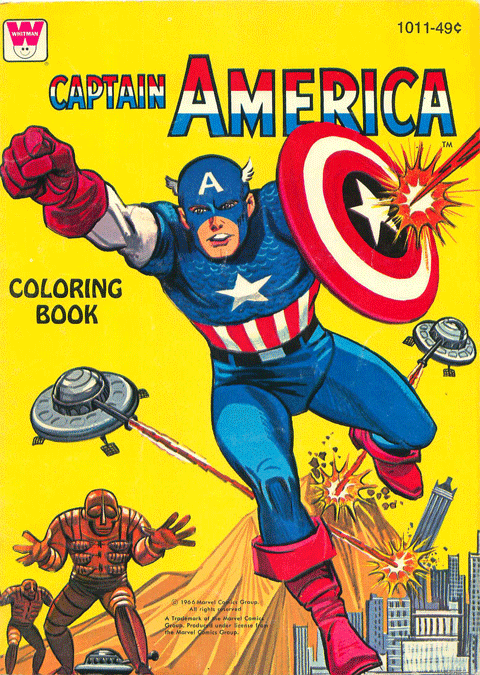 cryptofwrestling:  Captain America Coloring Book (1966)