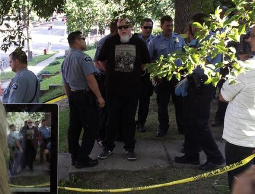 "Brother Ali Arrested for Civil Disobedience Brother Ali was among 13 protesters arrested in South Minneapolis last night. Ali's act of civil disobedience was part of an ongoing occupation of a foreclosed home in South Minneapolis, and occurred as over 125 people rallied in support of a family fighting against a bank error to keep their home. According to Occupy activists and witnesses, Ali was the first to willingly cross police lines and be arrested last night for trespassing on the foreclosed property, and was one of the only protesters to be arrested without making a public statement. Instead, Ali remained silent and stoic as police placed him in handcuffs. ""We made sure anyone who was considering potentially getting arrested had thought it over and prepared something they wanted to say, as to why they were willing to step across a police line and be arrested for this family, this house, this case,"" said Occupy Homes MN organizer Ben Egerman. ""And so one after another, people did this. They stepped in front of a crowd of about 125 supporters and said what it was that had them there, you know, basically saying 'I'm going to be arrested today.' And the first of them was Brother Ali. He decided that he would rather be silent."" Egerman says Ali has been interested in the Occupy Homes cause for the past few months. ""I think one thing I've been really impressed by is he has really stressed that he wants to be a part of the movement as a participant, not just as an artist,"" Egerman says. ""I've really been impressed that, when push comes to shove, Ali is there because he wants to participate."" Source Hear one of Brother Ali's more politically charged songs - Uncle Sam Goddamn"