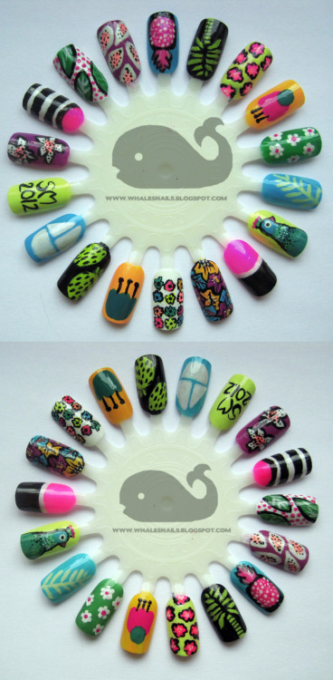 Summer 2012 Nail Art Wheel