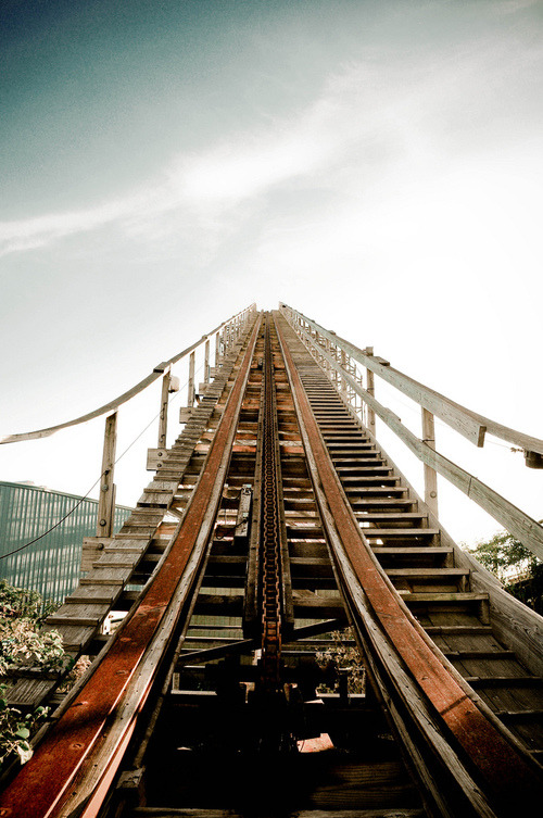 one of my fears; a roller coaster.