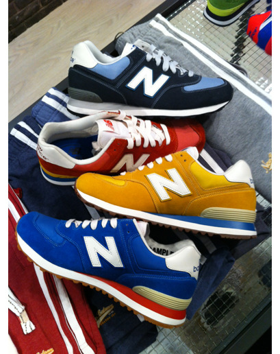 gqfashion:  Editor's Picks: Pitti Bright, retro kicks from New Balance. We like.