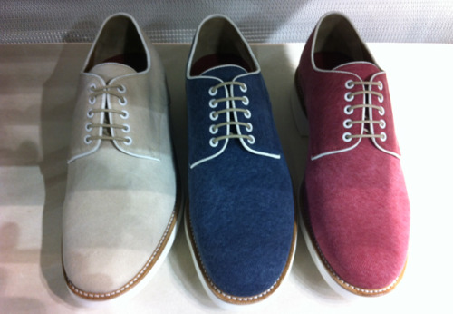 gqfashion:  Editor's Picks: Pitti Canvas oxford lace-ups with piping detail from Grenson.