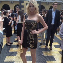 gqfashion:  Gotta love that Kate totally matches the Versace show decor! (Taken with Instagram)