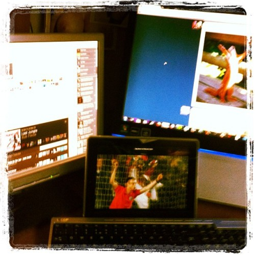 How I'm watching the game tonight #euro2012 #france #spain (Taken with Instagram)