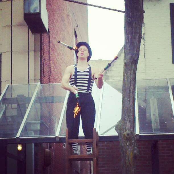 Fire juggler  (Taken with Instagram)