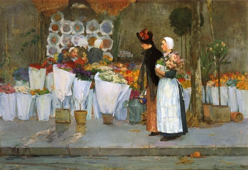 At the Florist, Frederick Childe Hassam (1889)