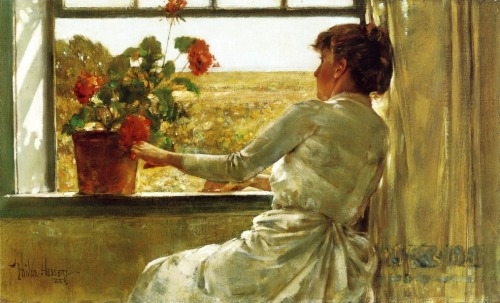 Summer Evening (1886), Frederick Childe Hassam