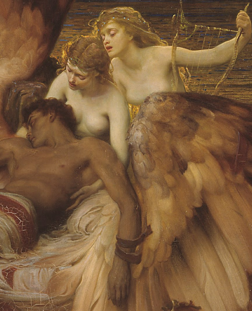 hyacinthos:  lament for icarus (detail), herbert james draper