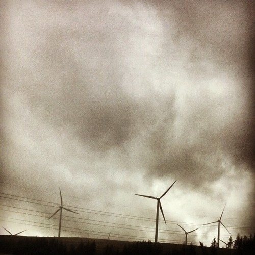 #sky #wind #cloud #rain #scotland #turbine  (Taken with Instagram)