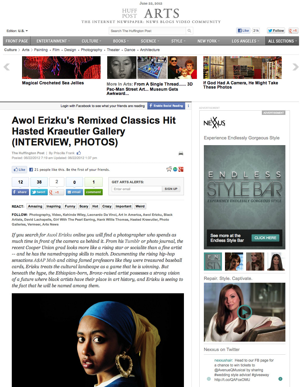 READ MY INTERVIEW WITH THE HUFFINGTON POST HERE