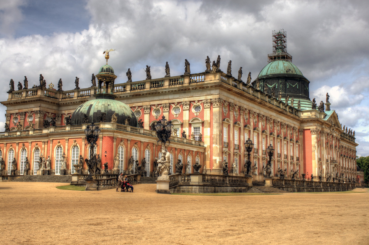 (hdr) neues palais, potsdam  my hdrs are improving i think, i was happy with this one, the sharpness is better. i like doing these hdrs so that they don't look too over-done, but are still dramatic