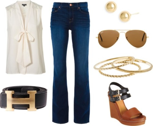 poshprepster:  Chic Casual by stephaniemd7 featuring sleeveless tops