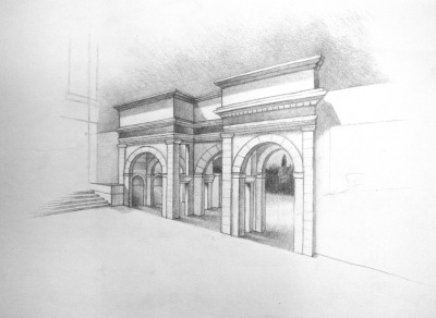 Sketch of the Agora Gate at Ephesus, TurkeySheamus Burns 2012
