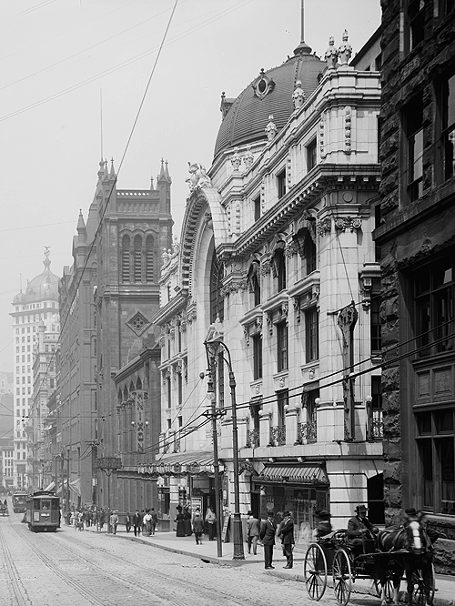 Sixth Ave., Pittsburgh, c. 1908.
