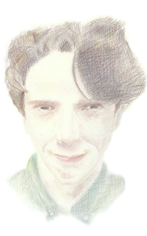 theantigovernor:  so i drew a picture of john linnell with ten coloured pencils (but not black or peach) and then i did a bad job of scanning it in two parts and putting the parts together but here it is! (higher resolution here)  SO GOOD