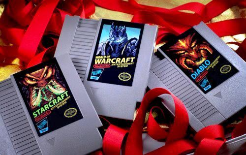 galaxynextdoor:  What if Blizzard brought their hits to the NES? I would have totally been down with that 8-Bit Diablo. World of Warcraft wouldn't have worked but I could see Starcraft rockin.