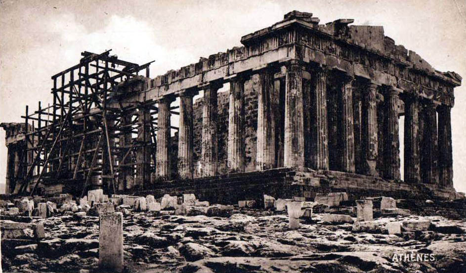 The ruins of the Parthenon, Athens