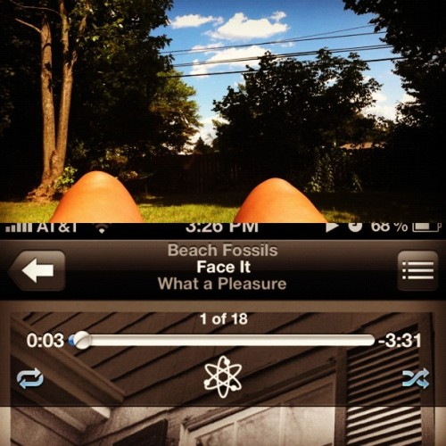 #beachfossils #tan #summer #music #backyard #sky #sun #weee (Taken with Instagram)