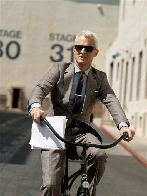 Mad Men's John Slattery in today's most modern plaid suits.
