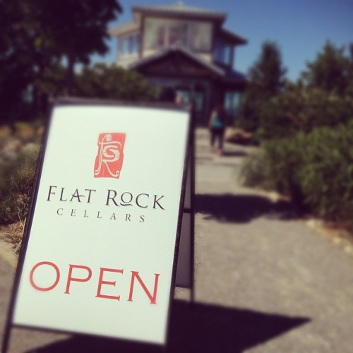 Fuck yeah. W/ @starlexis, @r2dent & @niveen84 #flatrock #wine #winery #new #vintage #vintage #festival #niagara  (Taken with Instagram at Flat Rock Cellars)
