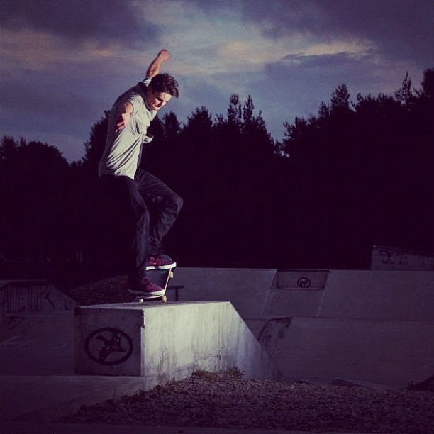 Me doing a nose grind, photo by Connor Sherman (Taken with Instagram at Huntsville Skatepark)